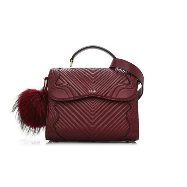Bonia Lady Handbag Full Leather Red