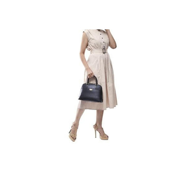 Bonia Lady Handbag Full Leathere Brown