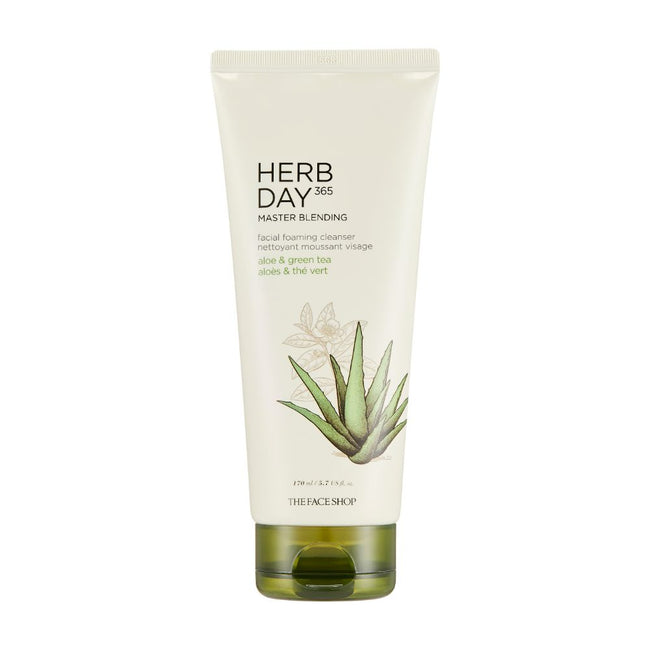 HERB DAY 365 MASTER BLENDING FOAMING CLEANSER ALOE&GREENTEA