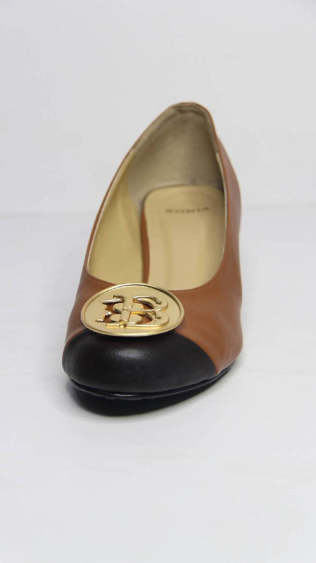 Bonia Full Leather Wedges Cover Lady Shoes