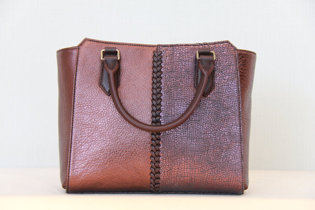 Bonia Handbags Full Leather Copper