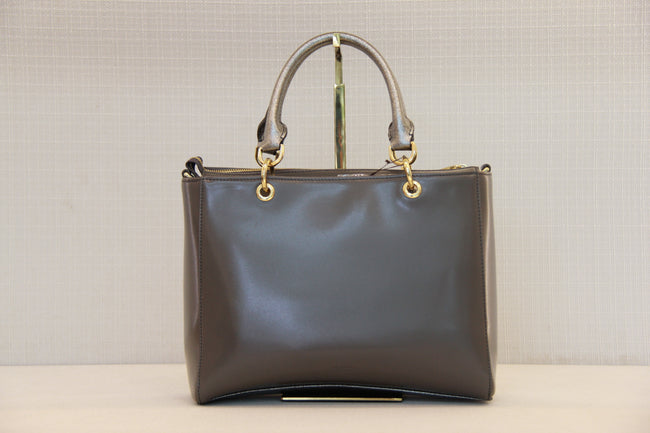 Bonia HandBag Full Leather Silver