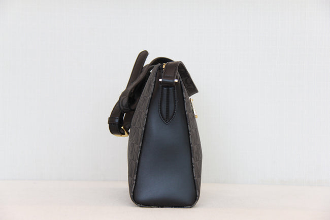 Bonia Shoulder Bags Vinyl Leather Black