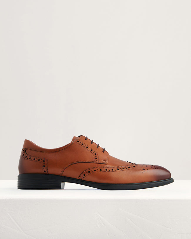 Pedro Burnished Leather Derby Brogues
