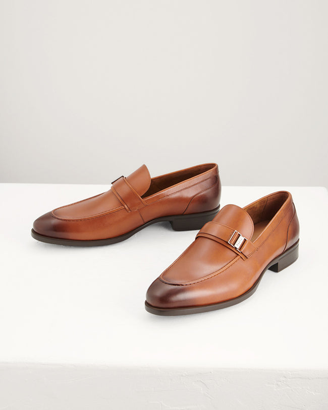 Side Buckled Penny Loafers