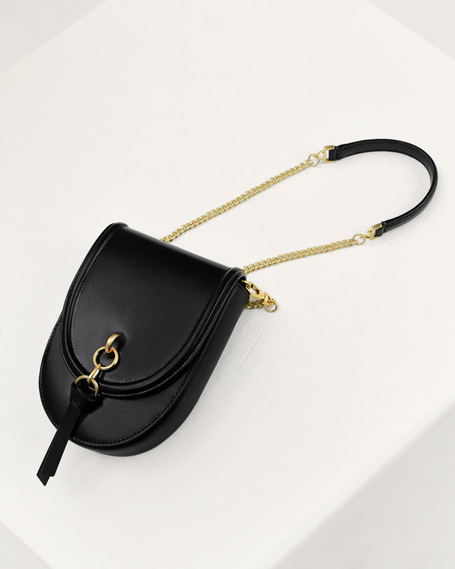 Micro Saddle Leather Pouch Bag