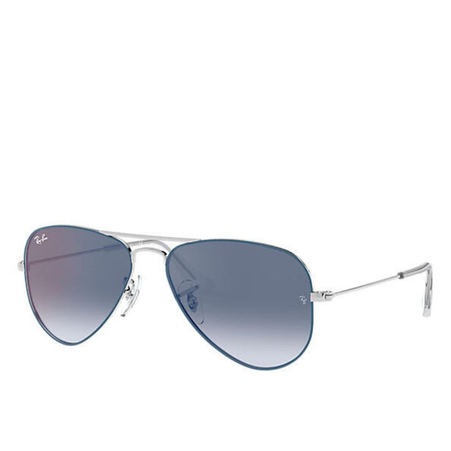 Ray Ban Junior Unisex Pilot  Blue Mirror Red Sunglass
