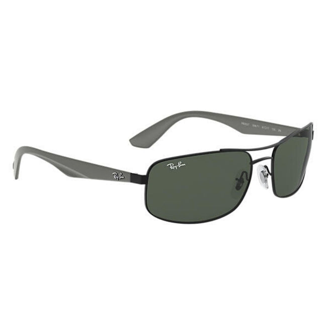Ray Ban Men Rectangle Grey Green Sunglass
