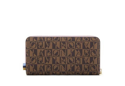 Bonia Claire Monogram Long Zipper Wallet