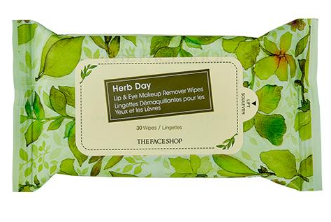 HERB DAY LIP&EYE REMOVER WIPES.2018