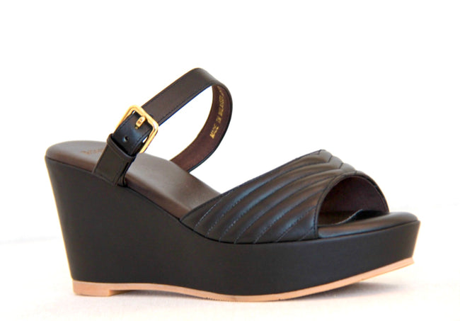 Bonia Open Toe Shoe Full Leather Black