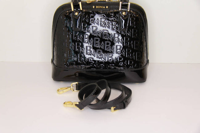 Bonia Handbag Patent Leather