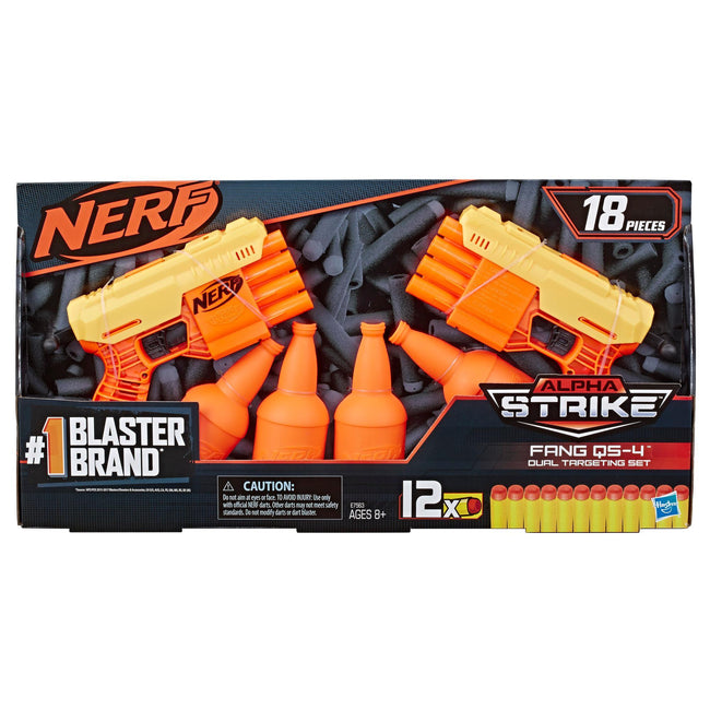 Nerf Alpha Strike Fang QS4 Duel Targeting Set