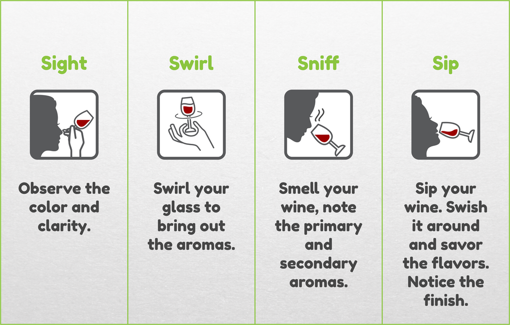 How to Drink Wine - 4 steps to wine tasting