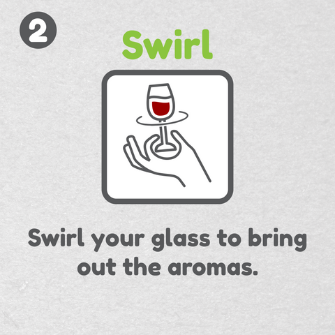 How to taste wine - Swirl