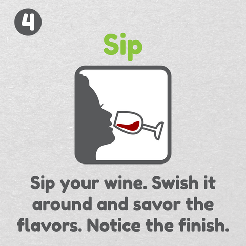 How to drink wine - Sip