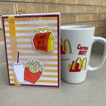 Card & Cup: Vintage French Fries