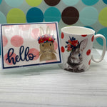 Card & Cup: Hello Rabbit
