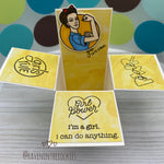 Handmade Card: Girl Power box