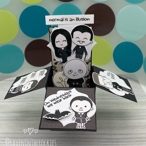 Handmade Card: Spooky Family box