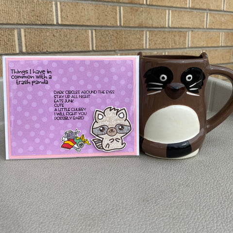 Card & Cup: Trash Panda