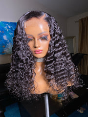 Miya-18 inch curly Indonesian with 4x4 closure Size M - Styled By Zahna