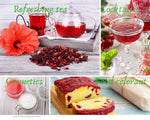 Red Hibiscus Flower | Powder Form| Herbal Tea| Cosmetics| Baking