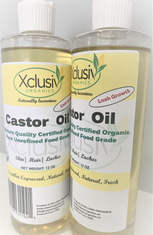 CASTOR OIL COLD PRESSED ORGANIC CERTIFIED ORIGINAL