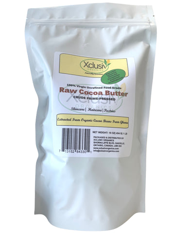 Raw Cocoa Butter ( BLOCKS) 1 lb - Crude Organic Prime-Pressed