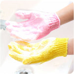 Shower Gloves Exfoliating Wash Skin Spa Bath Gloves Foam Bath Skid Resistance Shower Bath Gloves Bathroom Products Garden 2019