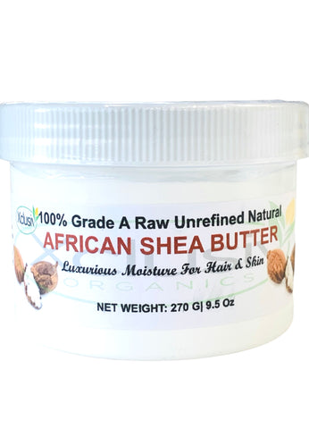 Raw Unrefined Shea Butter Ivory Fair Trade 9.5 OZ| 270 G