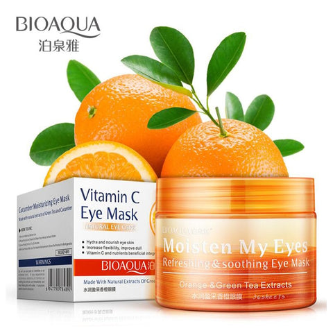 Orange Moisturizing Eye Mask Refreshing Soothing Nourish Moisturizing Gentle Skin Care Women