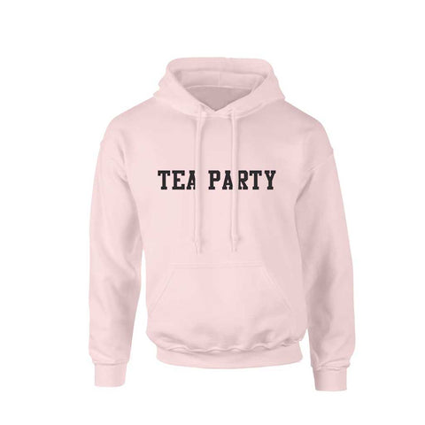 TEA PARTY TEXT LOGO PINK HOODY