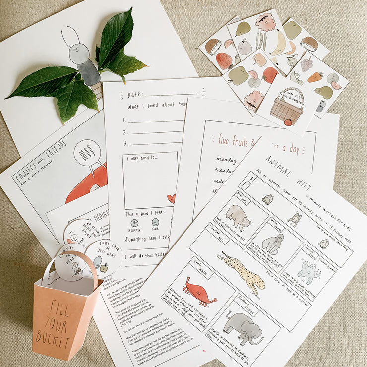 Healthy Body & Healthy Mind Printable Activity Pack