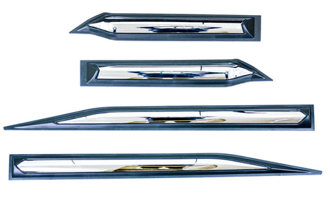 Isuzu MUX Body Claddings W/ Chrome