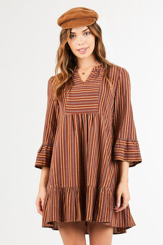 Peasant Stripped Dress