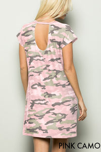 Camo Dress With Keyhole Back