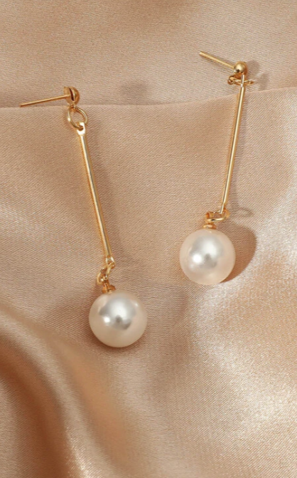 Faux Pearl Drop Earrings