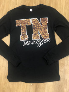 TN Cheetah Print Long Sleeve Tee