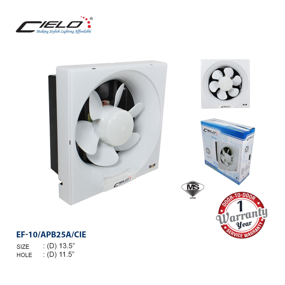 "Cielo 8""/10""/12"" Fan Blade Wall Exhaust Fan [Sirim Cetificated]"