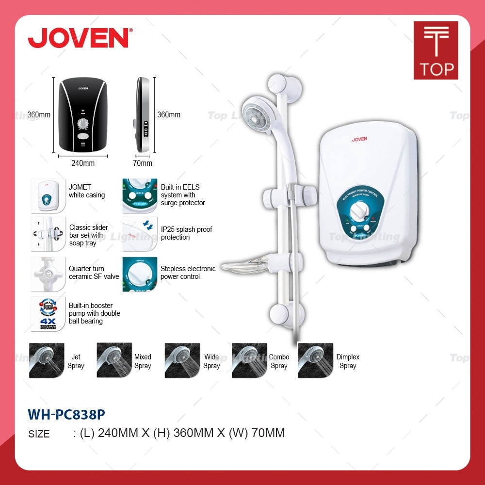 Joven PC838P AC-Pump Instant Water Heater