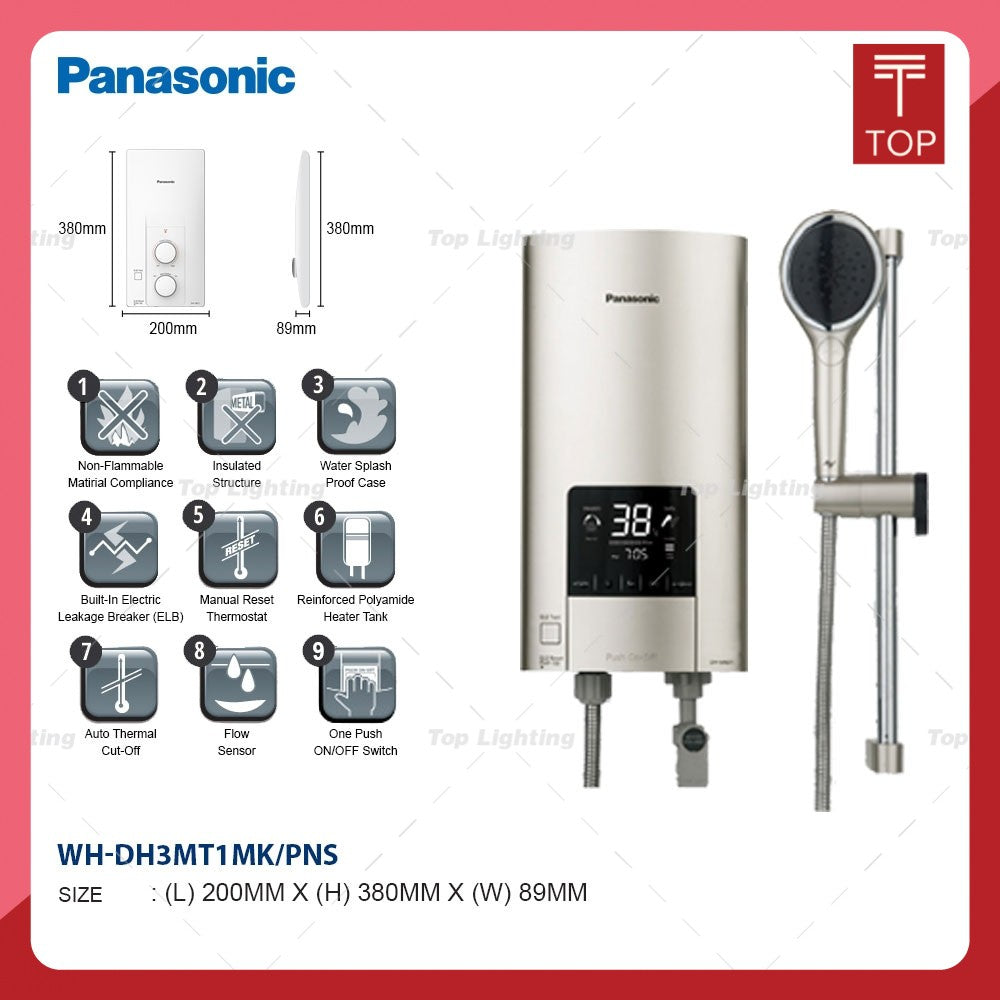 Panasonic DH-3ND1MS/DH-3NDP1MS Non Pump/DC Pump Instant Water Heater