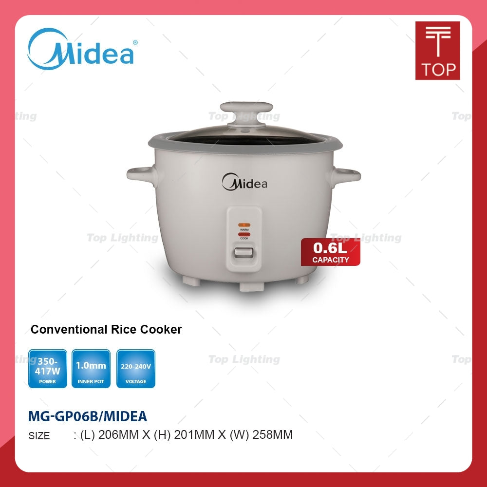 Midea MG-GP06B 0.6L Conventional Rice Cooker