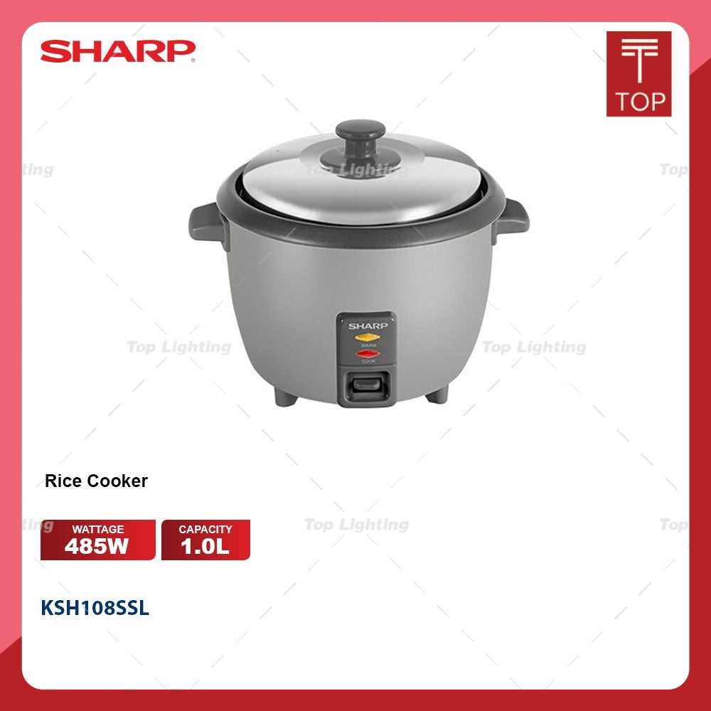 Sharp KSH108SSL 1.0L Non Stick Pot Rice Cooker