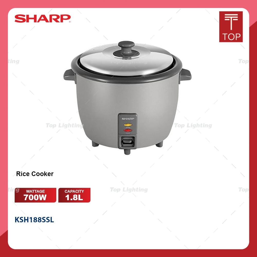Sharp KSH188SSL 1.8L Non Stick Pot Rice Cooker