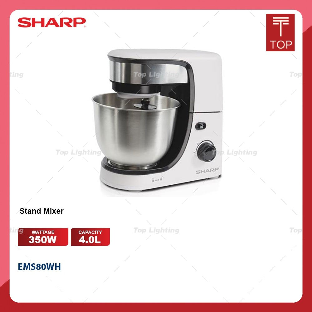 Sharp EMS80WH 4.0L 350W Stand Mixer