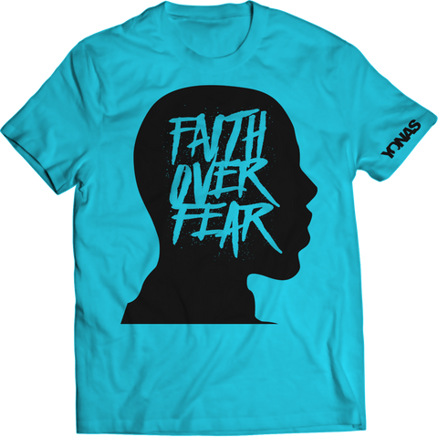 Faith Over Fear T-shirt (Blue)