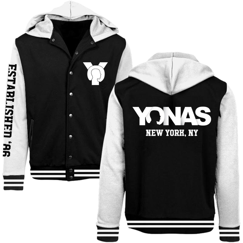 Black YONAS Varsity Jacket