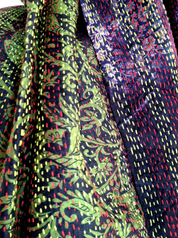 Brown Burgundy Yellow Red Vintage Scarf Ftwwl