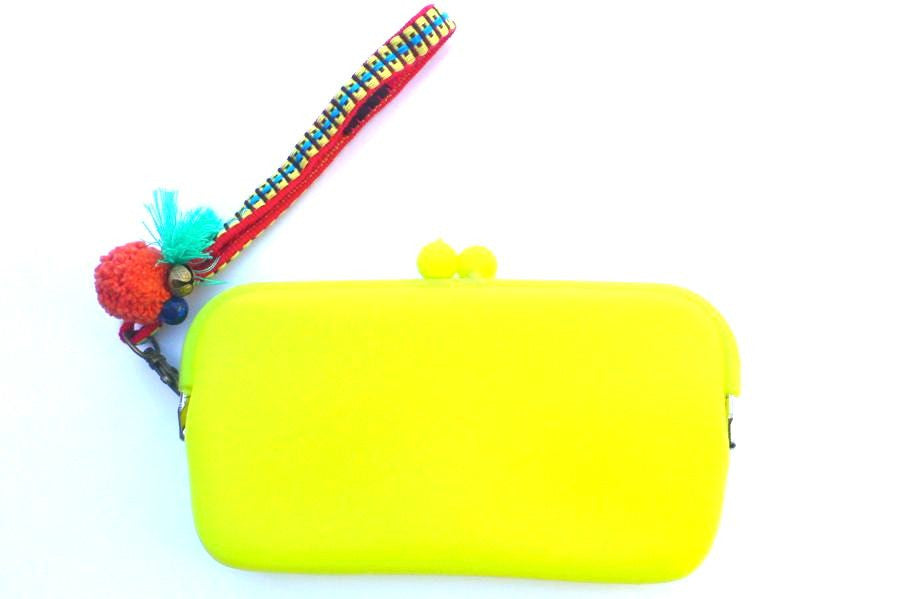 Silicone clutch purse